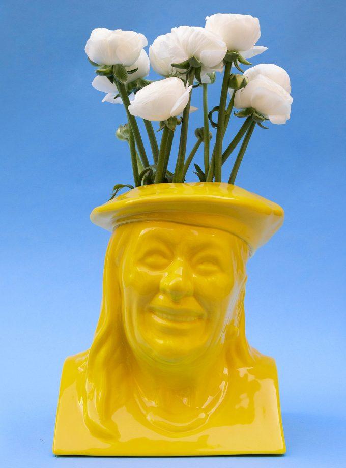 Vilma giallo ranuncoli bianchi festa della donna